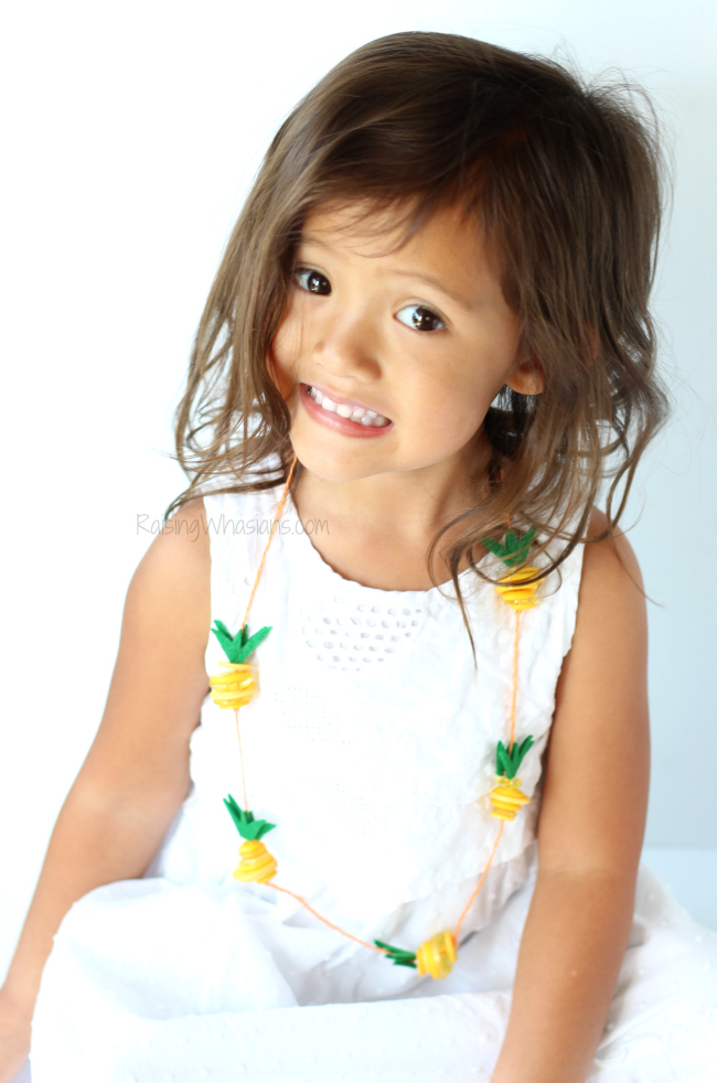 Pineapple necklace diy
