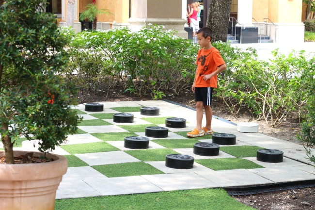 Winter park checker board