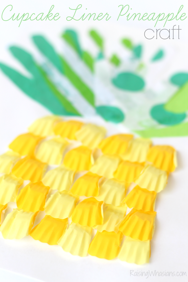 Baking cups pineapple craft