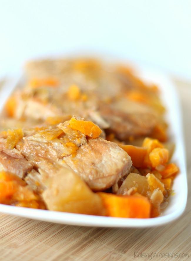Crock pot pork chops apples sweet potatoes