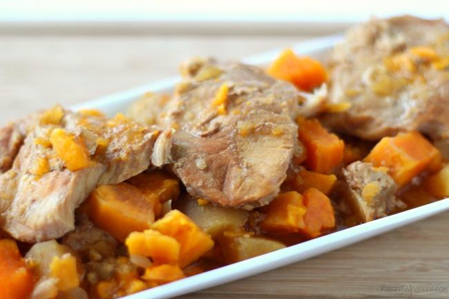 Easy crockpot pork chops apples sweet potatoes