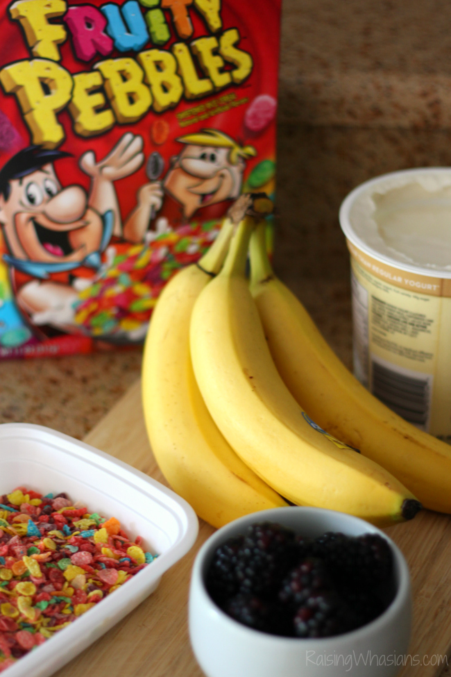 Fruity Pebbles breakfast idea