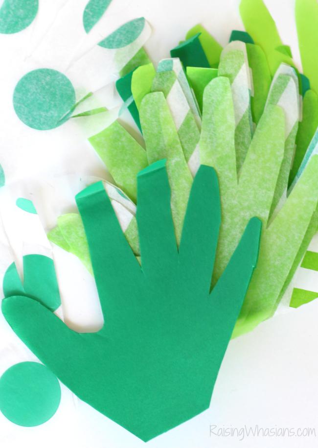 Handprint pineapple craft