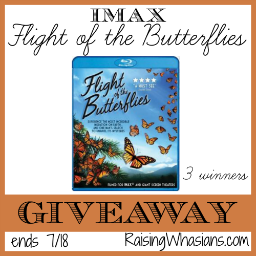 IMAX flight of the butterflies giveaway