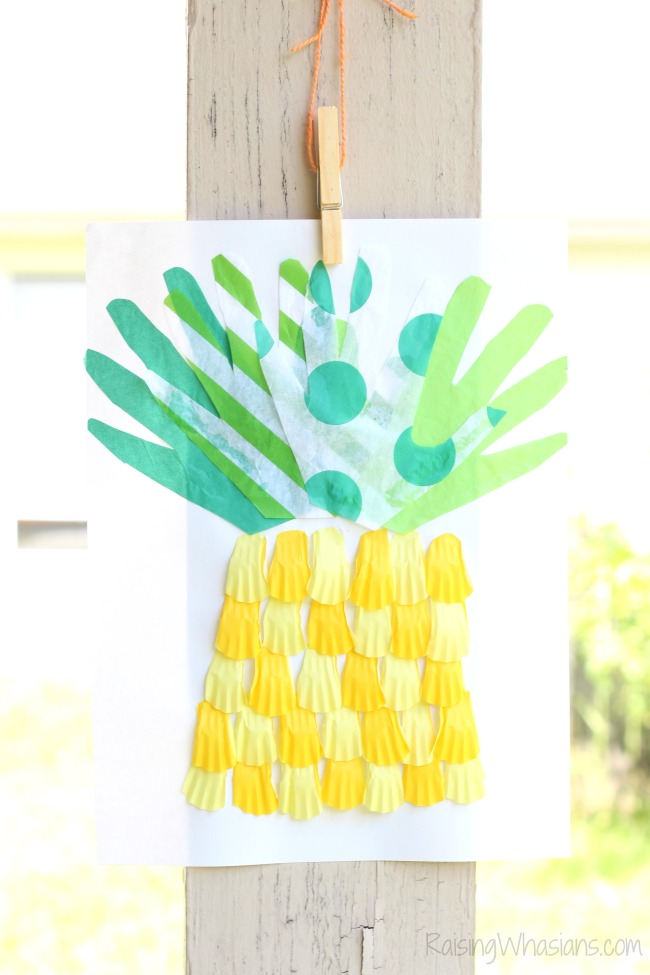 Pineapple craft for kids