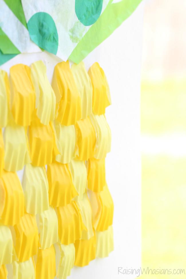 Pineapple kids craft summer