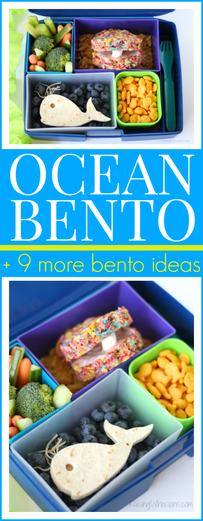 Ocean Bento Lunch Ideas + Pearl Oyster Cereal Treats   head back-to-school with this list of easy bento lunchbox ideas + pearl oyster cereal treats #Recipe #Dessert #Snack