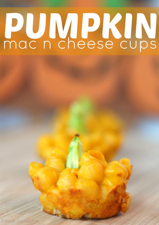 Easy pumpkin mac n cheese cups