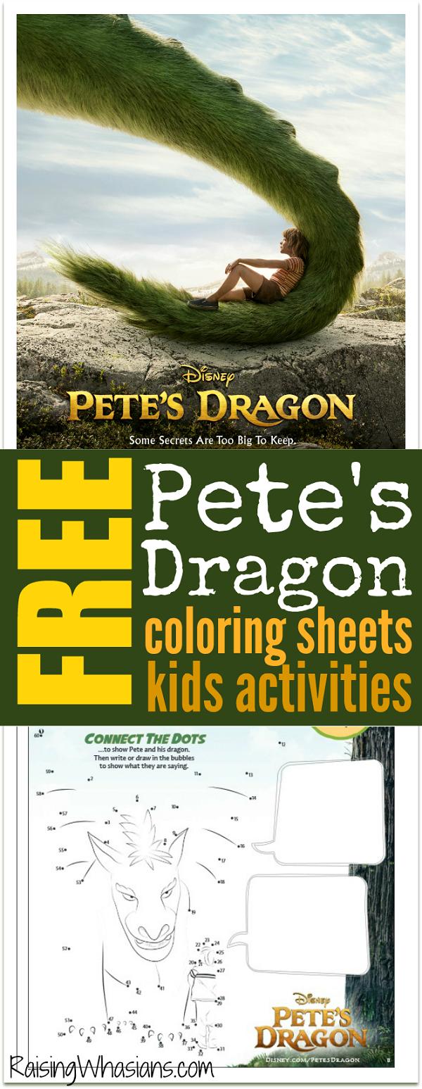 Free Disney Pete's dragon coloring sheets pinterest
