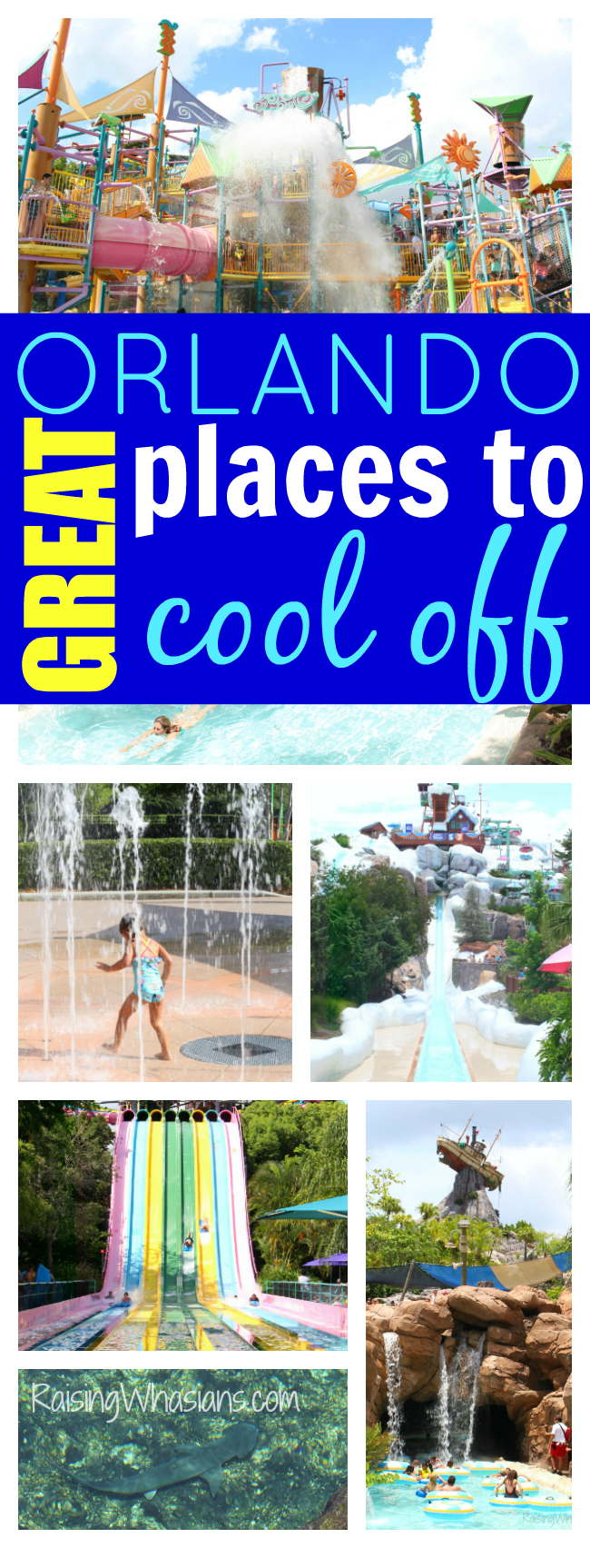 Great Orlando water parks pools splash pads