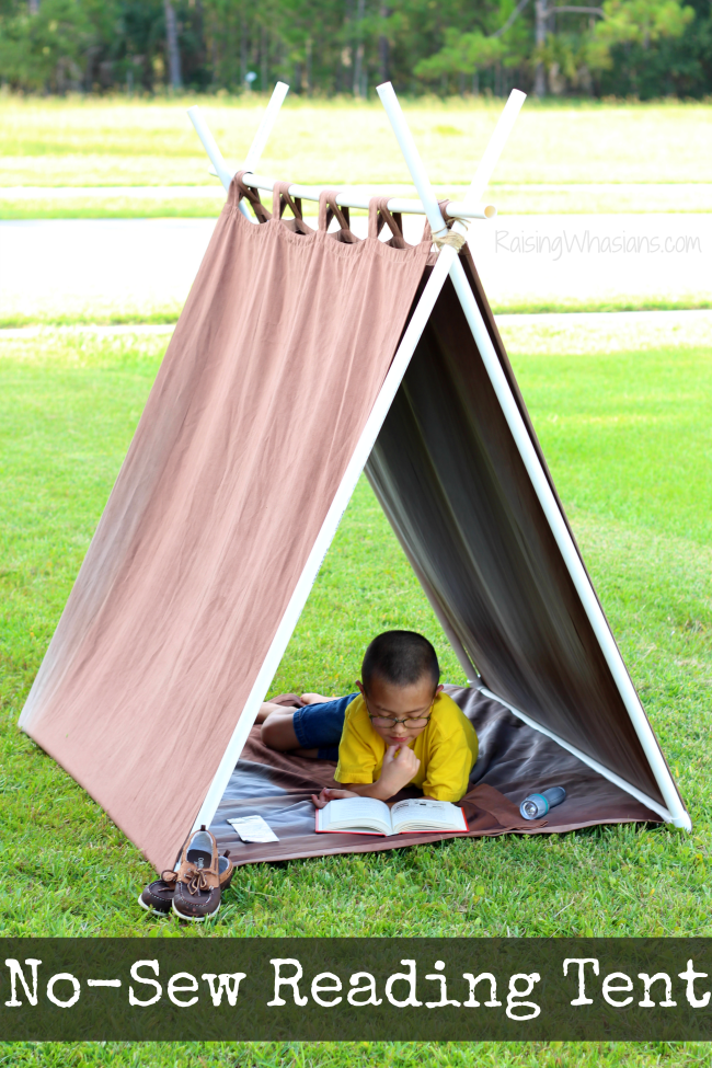 No sew reading tent for kids