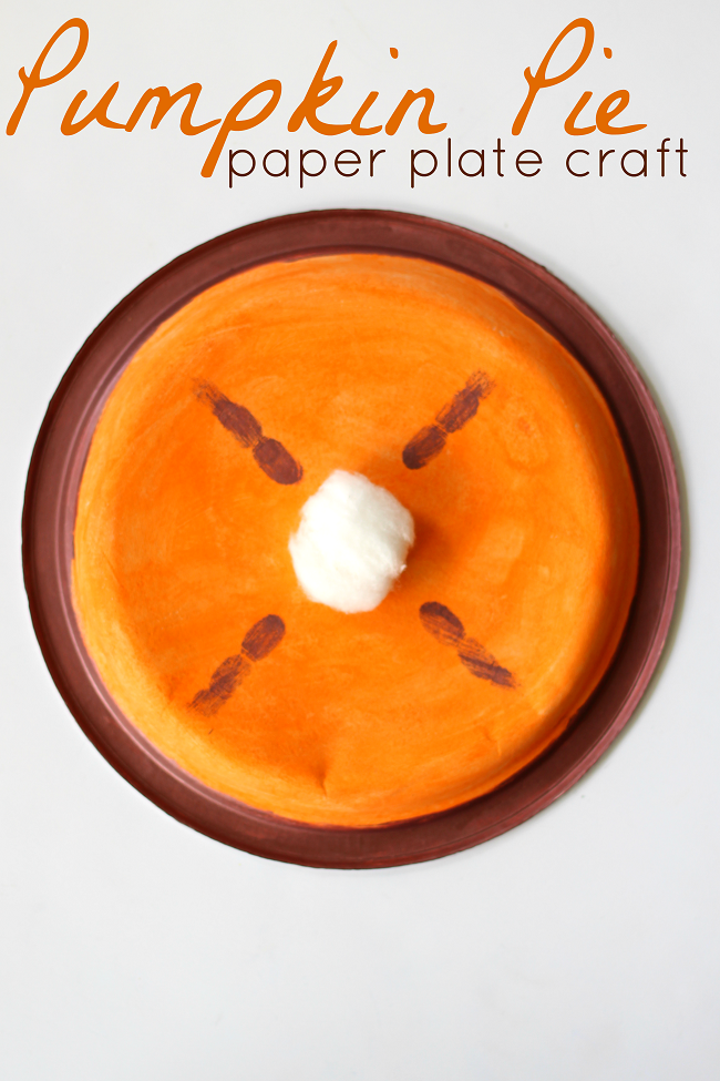 Paper plate pumpkin pie craft  sc 1 st  Raising Whasians & Pumpkin Pie Paper Plate Craft + 71 More Fall Craft Ideas