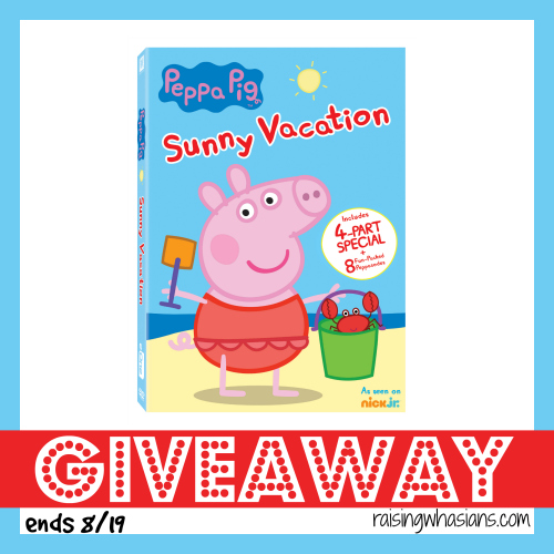 Peppa pig summer vacation dvd giveaway