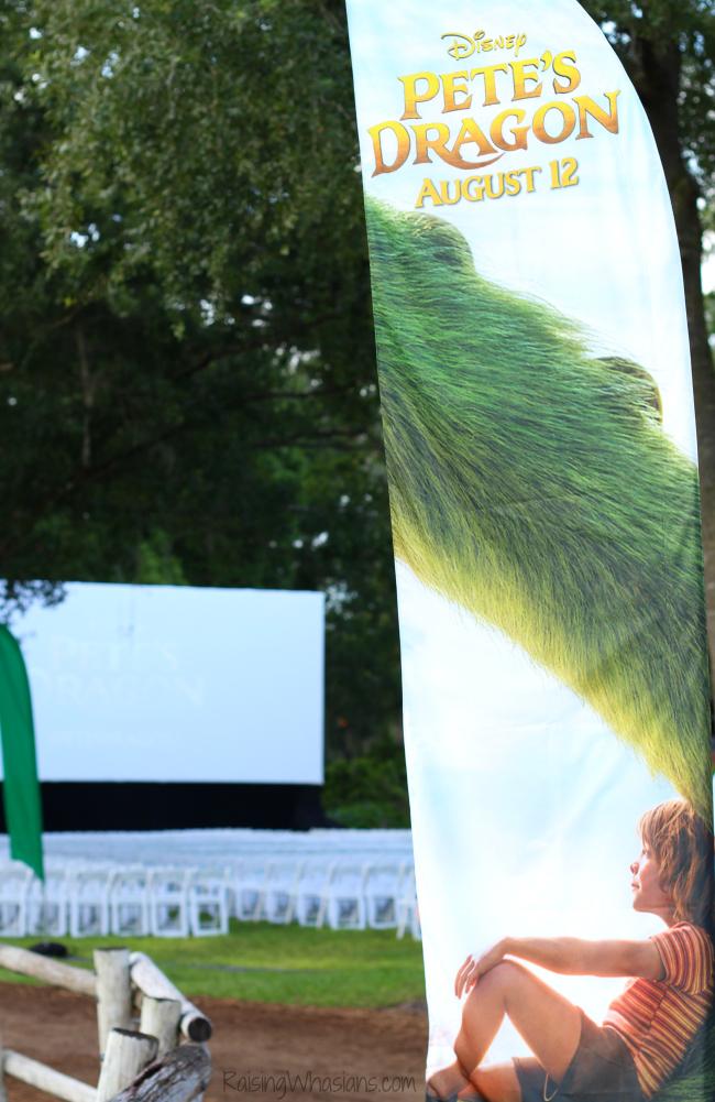 Pete's dragon movie screening Disney world