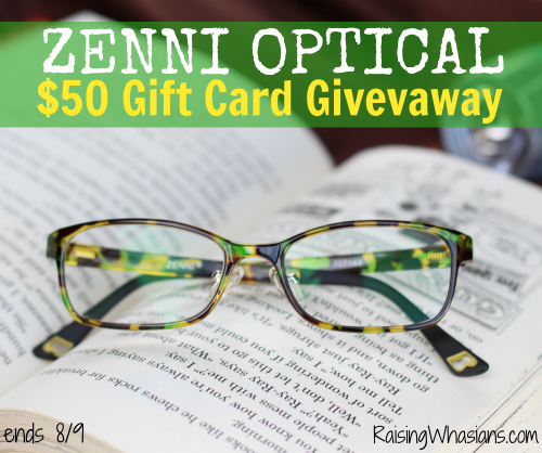 Zenni optical gift card giveaway