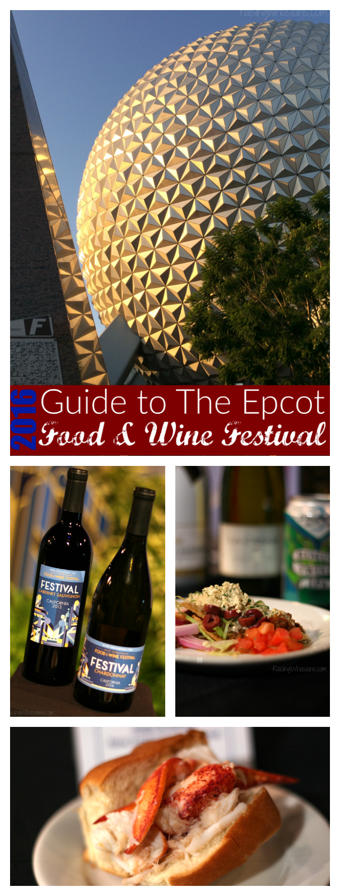 2016 Epcot food and wine festival guide pinterest