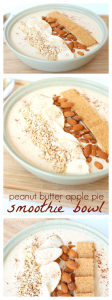 Apple pie smoothie bowl pinterest