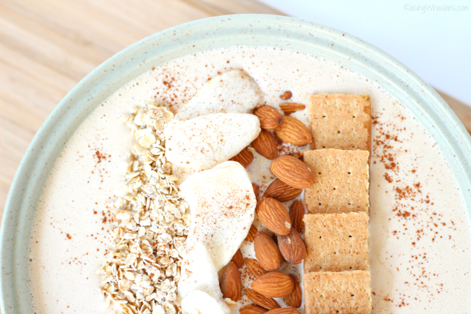 Peanut Butter Apple Pie Smoothie Bowl - Raising Whasians