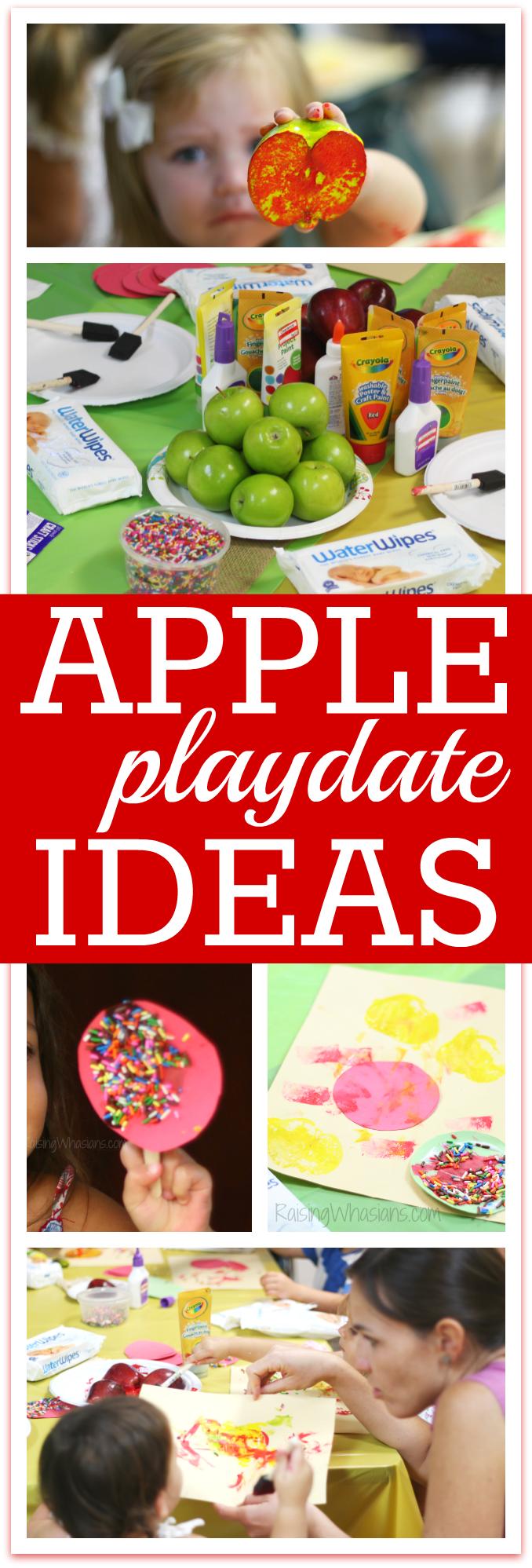 Apple playdate ideas for preschoolers