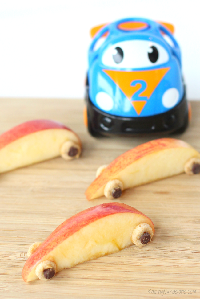Apple race car kids snack