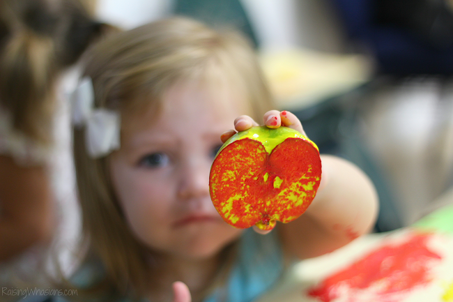 Apple stamping party