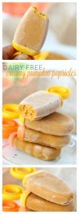 Creamy pumpkin popsicles pinterest