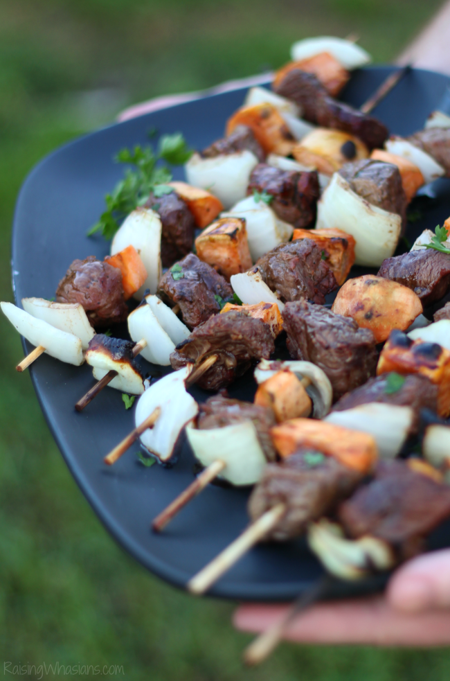 Easy steak kabobs fall