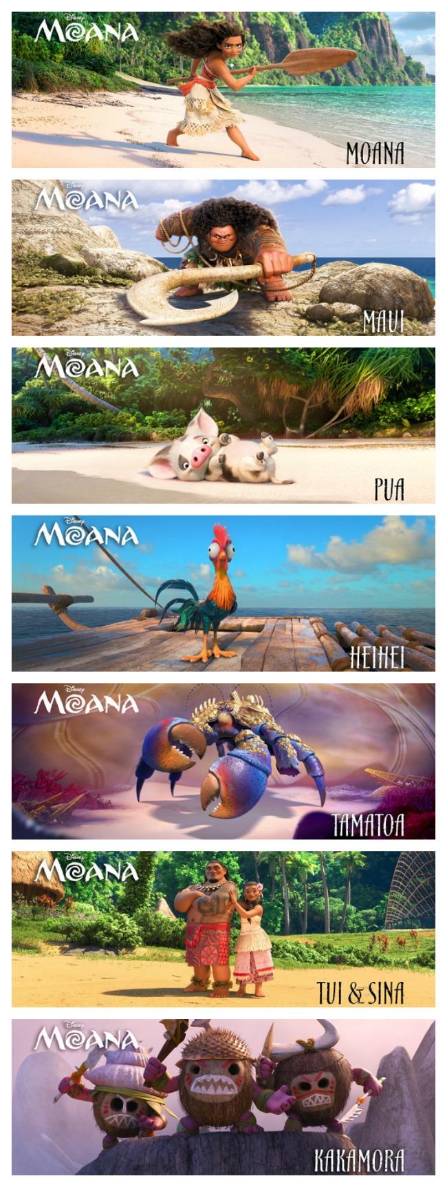 Moana characters pinterest