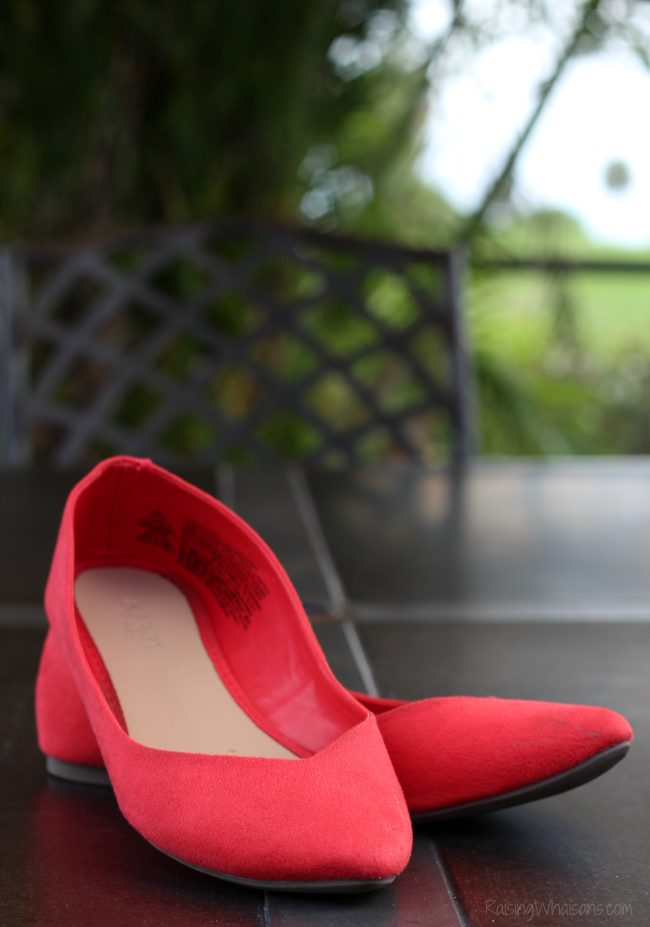 Orange suede shoes