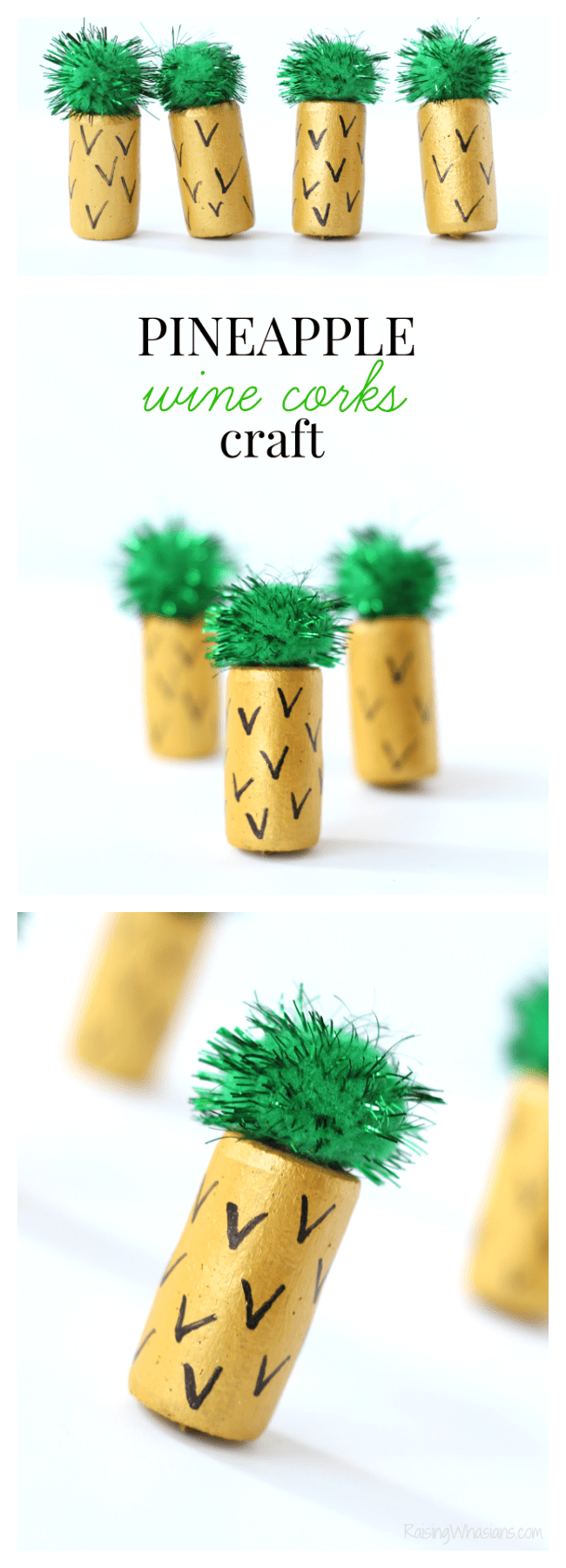 Pineapple wine corks craft pinterest