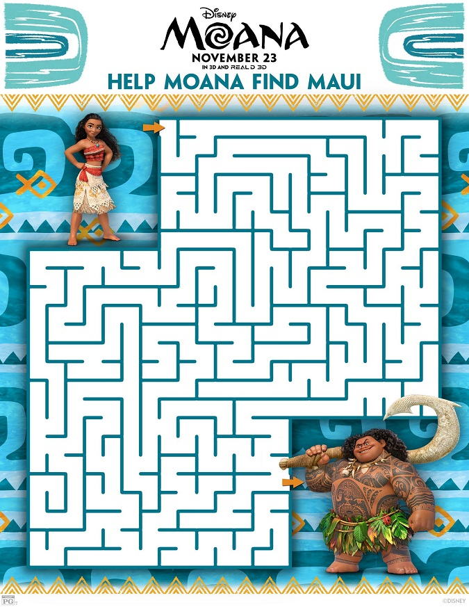 Free Moana coloring sheets