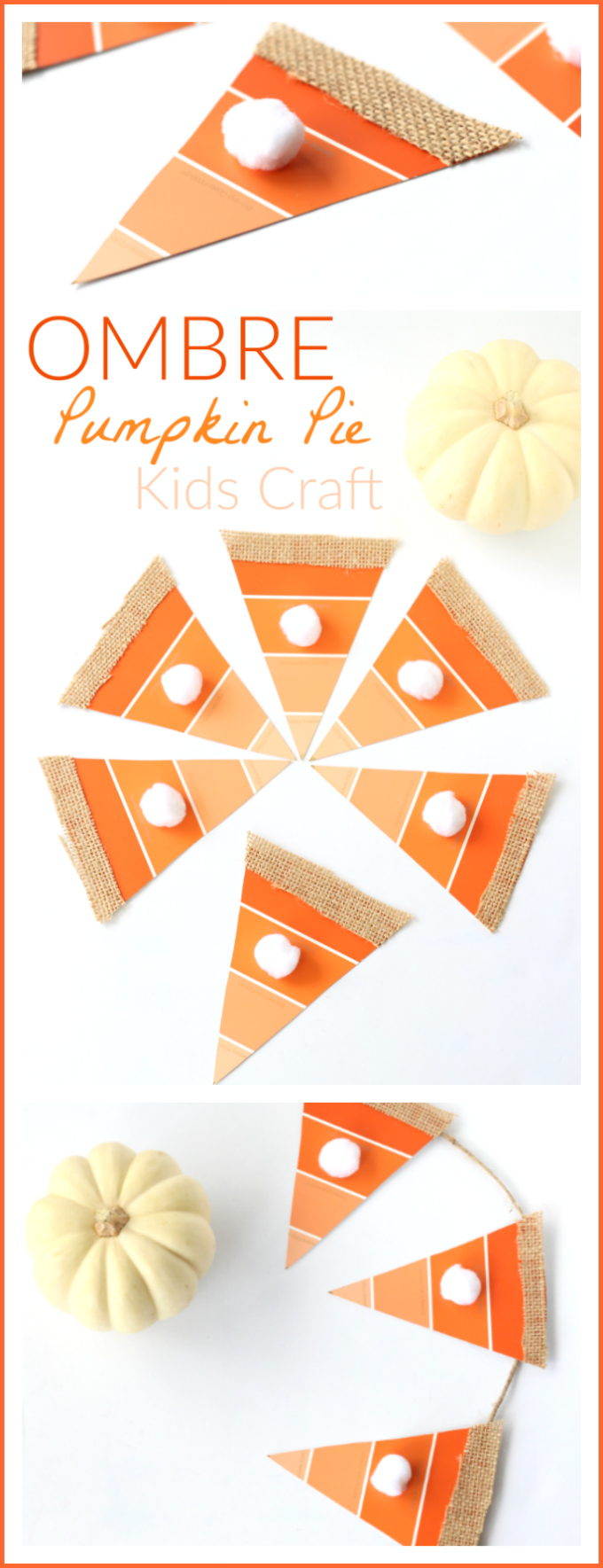 Ombre pumpkin pie craft pinterest