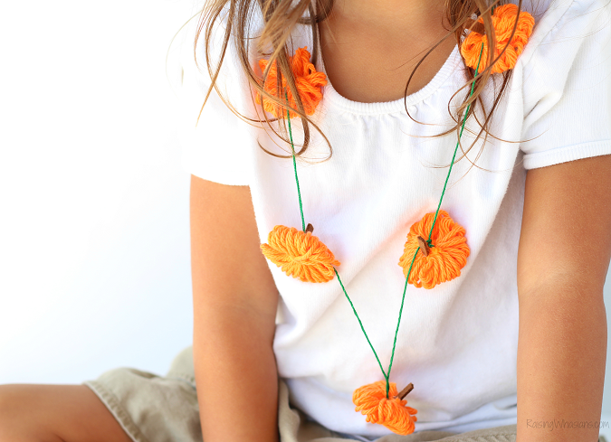 Pumpkin necklace craft