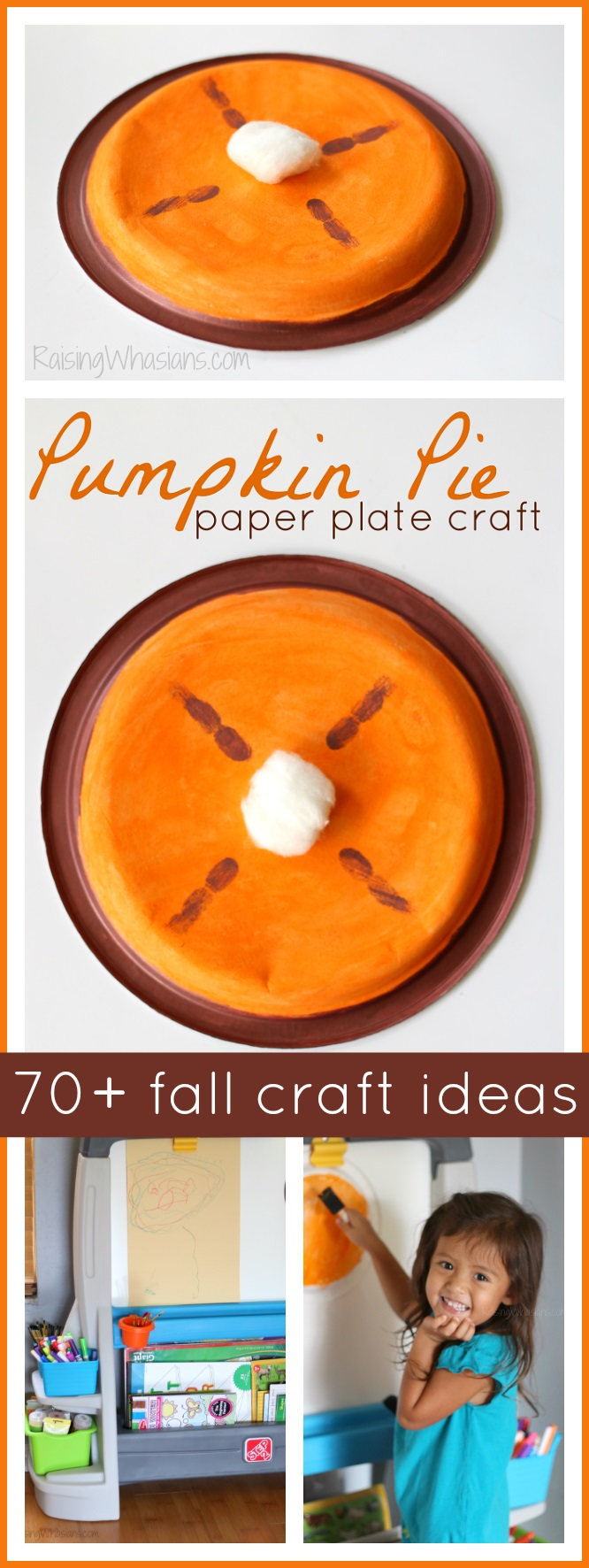 Pumpkin pie craft fall craft ideas