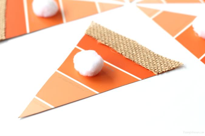 Pumpkin pie paint chip craft