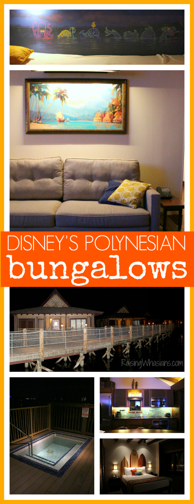Disney's Polynesian bungalows photo tour fun facts