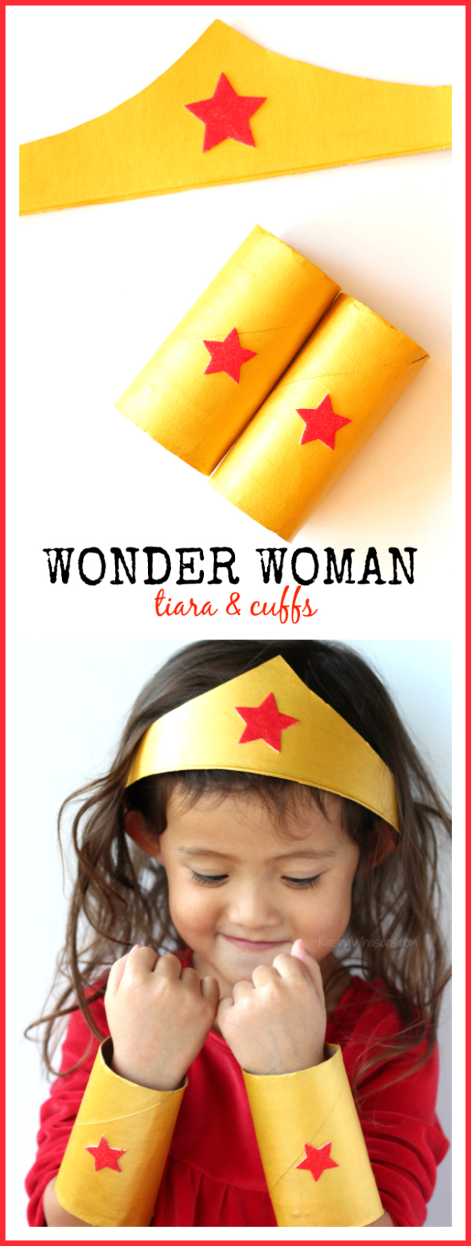 Easy wonder woman craft pinterest