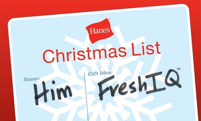 Holiday gift for him Hanes FreshIQ