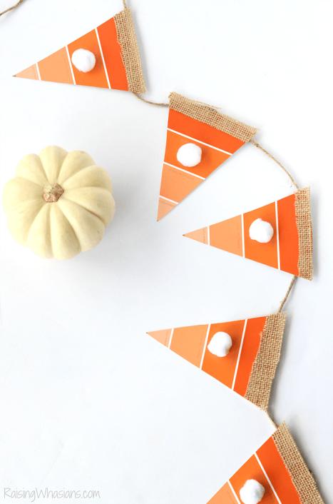 Ombre pumpkin pie garland