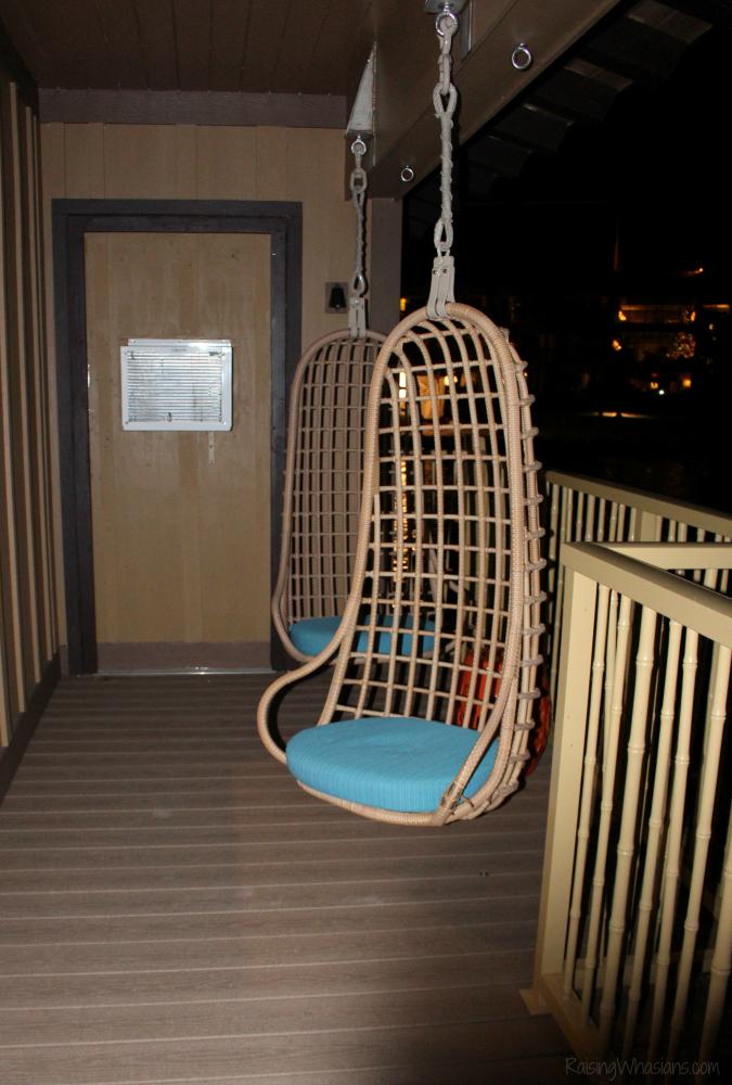 Polynesian bungalows porch swings