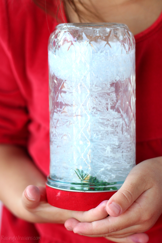 Snow globe dollar store craft