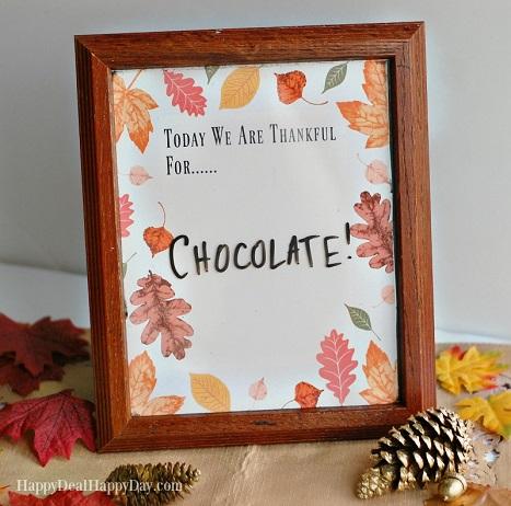 Thankful frame printable
