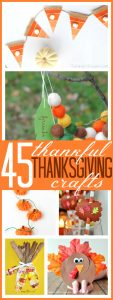 Thankful Thanksgiving crafts for kids