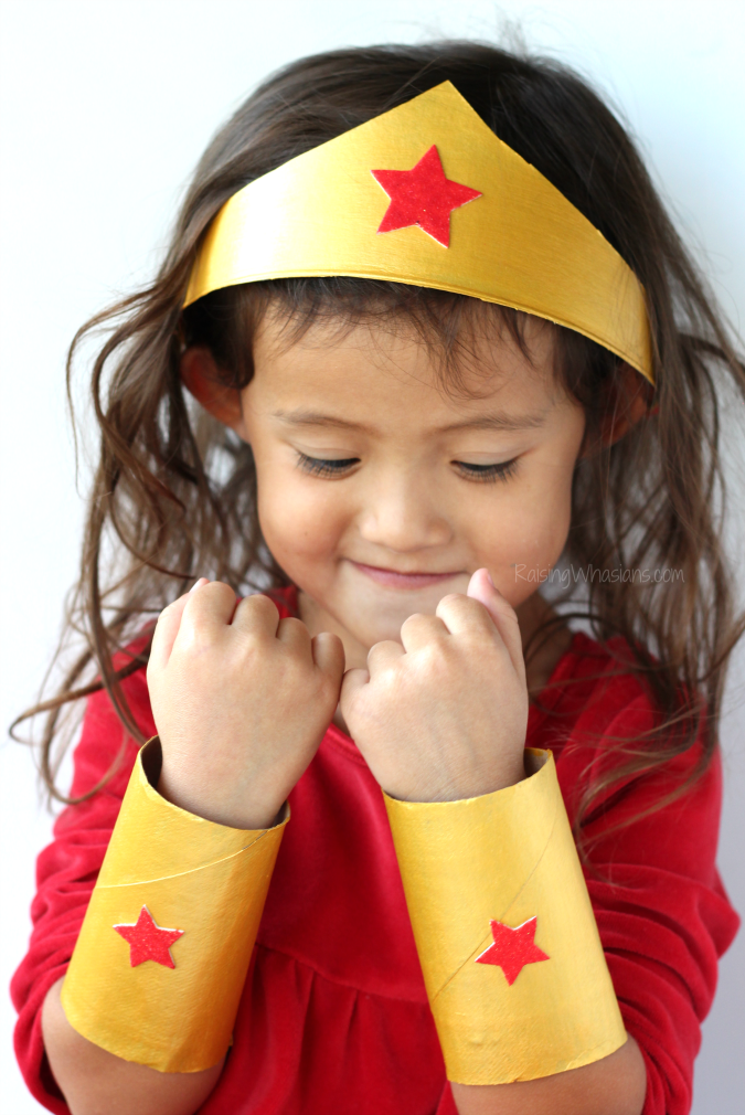 Wonder woman craft for kids