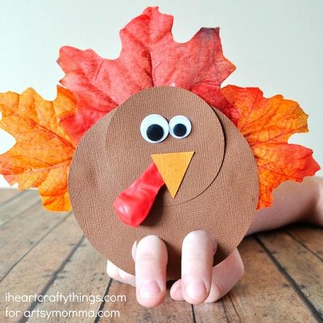 Turkey finger puppet craft