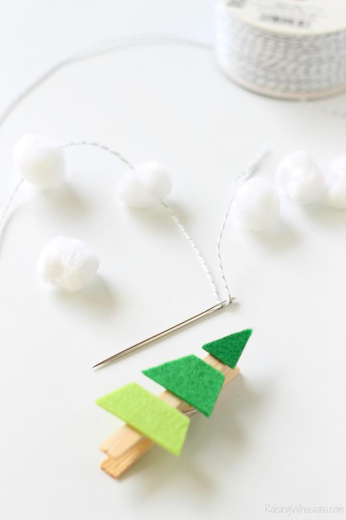 Christmas tree garland craft for kids