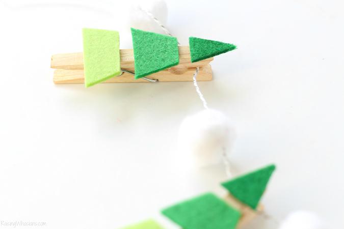 Clothespin Christmas tree craft