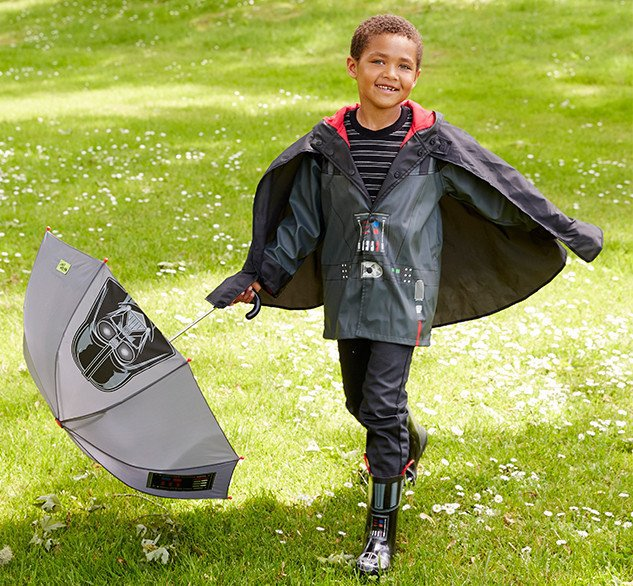 Darth Vader rain gear for kids