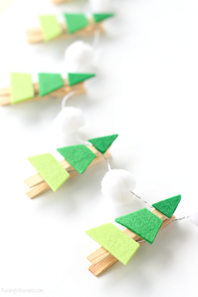 Ombre Christmas tree craft
