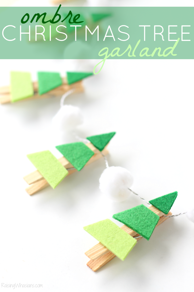 Ombre Christmas tree garland